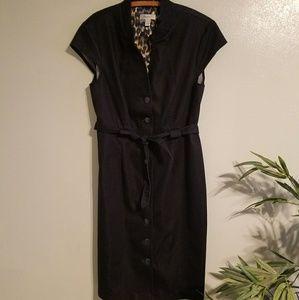 👠NWOT! Dress Barn dark navy blue military dress